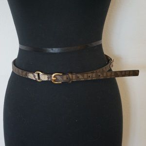 Michael Kors Skinny Leather Belt